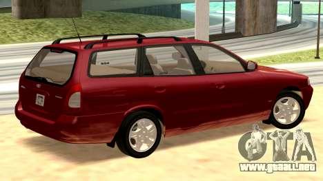 Daewoo Nubira me Vagón CDX NOSOTROS 1999 para GTA San Andreas vista posterior izquierda