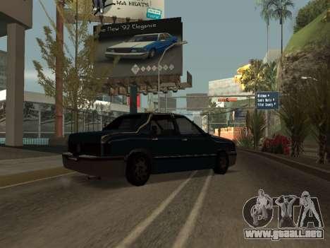 Beta Elegant para GTA San Andreas vista posterior izquierda