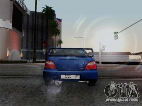 Subaru impreza WRX STI 2004 para GTA San Andreas left
