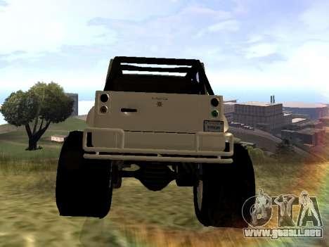 GTA 5 Mesa MerryWeather version para GTA San Andreas vista posterior izquierda