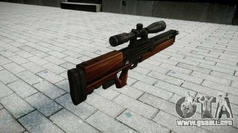 Rifle de francotirador Walther WA 2000 para GTA 4 segundos de pantalla