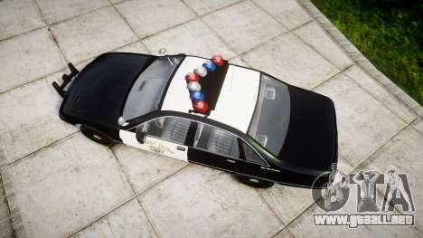 Chevrolet Caprice 1991 Highway Patrol [ELS] para GTA 4 visión correcta