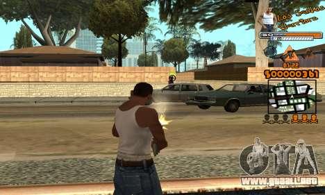 C-HUD LSW para GTA San Andreas sucesivamente de pantalla