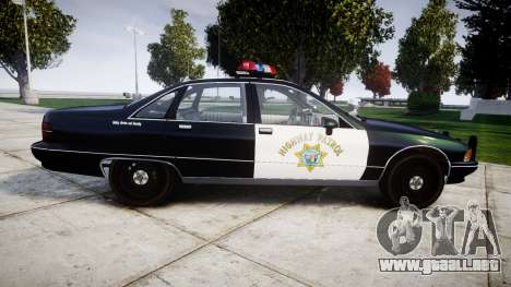 Chevrolet Caprice 1991 Highway Patrol [ELS] para GTA 4 left