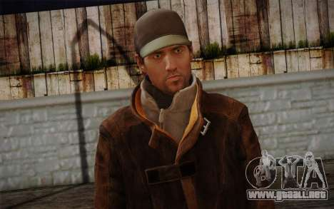 Aiden Pearce from Watch Dogs v11 para GTA San Andreas tercera pantalla