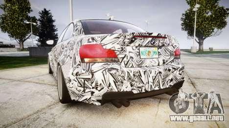 BMW 1M 2011 Sharpie para GTA 4 Vista posterior izquierda