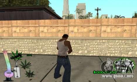 C-HUD Canabis para GTA San Andreas tercera pantalla
