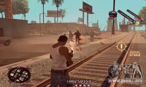 C-HUD Classic para GTA San Andreas tercera pantalla