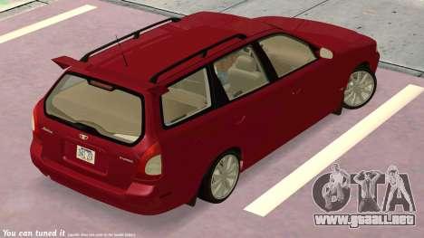Daewoo Nubira me Vagón CDX NOSOTROS 1999 para vista lateral GTA San Andreas