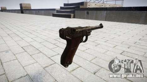 Pistola Luger P08 para GTA 4 segundos de pantalla