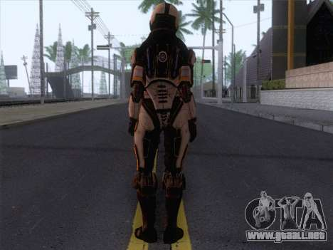 Cerberus Female Armor from Mass Effect 3 para GTA San Andreas segunda pantalla