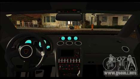 Lamborghini Gallardo LP 570-4 para GTA San Andreas vista hacia atrás