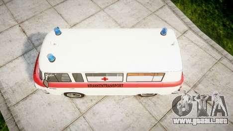 Barkas B1000 1961 Ambulance para GTA 4 visión correcta
