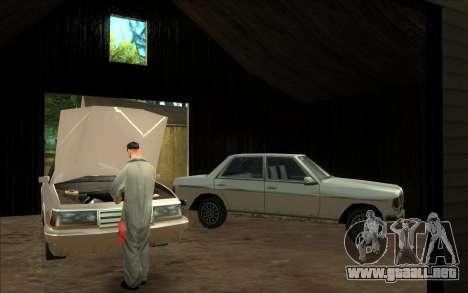 Carretera de garaje de Sigea para GTA San Andreas tercera pantalla