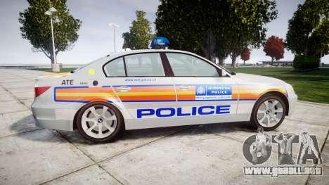 BMW 525d E60 2006 Police [ELS] para GTA 4 left