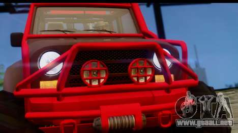 GTA 5 Mesa MerryWeather para GTA San Andreas vista posterior izquierda