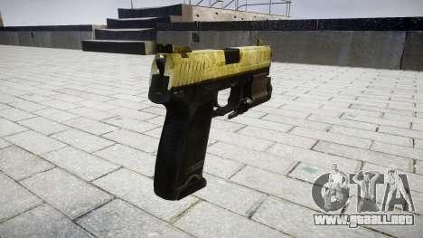 La pistola HK USP 45 de oliva para GTA 4 segundos de pantalla
