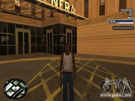 CLEO HUD Spiceman para GTA San Andreas sucesivamente de pantalla