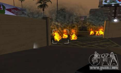 Yellow Effects para GTA San Andreas quinta pantalla