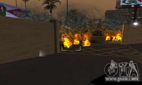 Yellow Effects para GTA San Andreas quinta pantalla