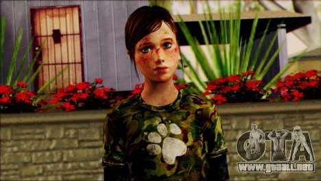 Ellie from The Last Of Us v2 para GTA San Andreas tercera pantalla