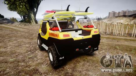 Ford Intruder Lifeguard Beach [ELS] para GTA 4 Vista posterior izquierda