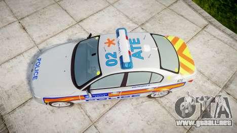 BMW 525d E60 2006 Police [ELS] para GTA 4 visión correcta