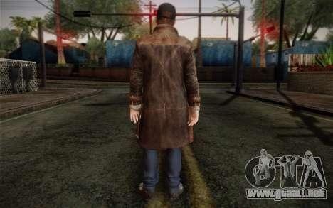 Aiden Pearce from Watch Dogs v12 para GTA San Andreas segunda pantalla