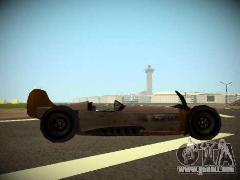 Rustler Varilla Beta para GTA San Andreas vista posterior izquierda