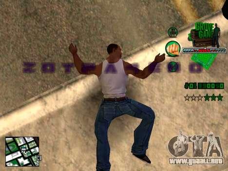 C-HUD Grove Street TAWER para GTA San Andreas tercera pantalla