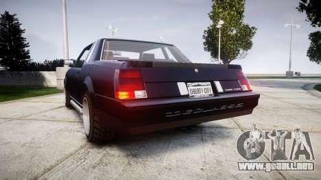 Declasse Sabre Premium para GTA 4 Vista posterior izquierda