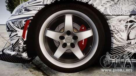 Dodge Viper SRT GTS 2013 Sharpie para GTA 4 vista hacia atrás