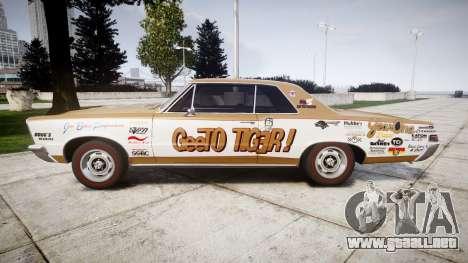 Pontiac GTO 1965 GeeTO Tiger para GTA 4 left