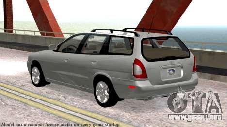 Daewoo Nubira me Vagón CDX NOSOTROS 1999 para la vista superior GTA San Andreas