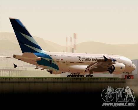 Airbus A380-800 Garuda Indonesia para vista lateral GTA San Andreas