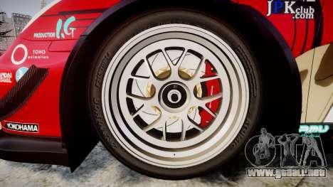 Porsche 911 Super GT 2013 para GTA 4 vista hacia atrás