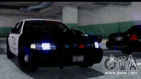 LAPD Ford Crown Victoria Slicktop para GTA San Andreas