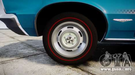 Pontiac GTO 1965 victory cars para GTA 4 vista hacia atrás