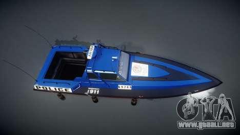 GTA V Police Predator para GTA 4 visión correcta