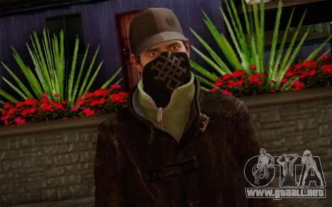 Aiden Pearce from Watch Dogs v2 para GTA San Andreas tercera pantalla