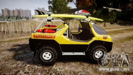 Ford Intruder Lifeguard Beach [ELS] para GTA 4 left