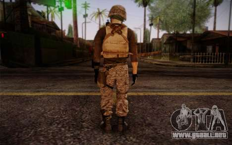 Brady from Battlefield 3 para GTA San Andreas segunda pantalla