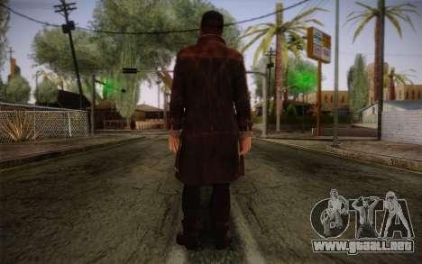 Aiden Pearce from Watch Dogs v4 para GTA San Andreas segunda pantalla