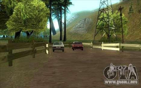 Carretera de garaje de Sigea para GTA San Andreas segunda pantalla