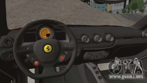 Ferrari F12 Berlinetta 2013 para visión interna GTA San Andreas