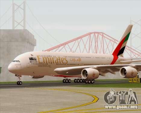 Airbus A380-800 Emirates 40 Anniversary Sticker para visión interna GTA San Andreas