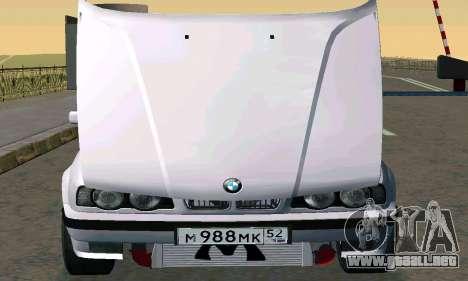 BMW 525 Turbo para GTA San Andreas vista posterior izquierda