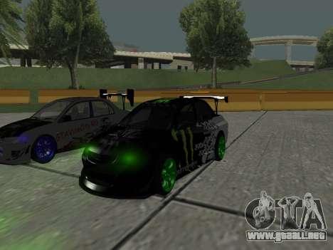 Mitsubishi Lancer Evo 9 Monster Energy para GTA San Andreas left