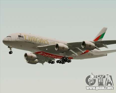 Airbus A380-800 Emirates 40 Anniversary Sticker para la visión correcta GTA San Andreas