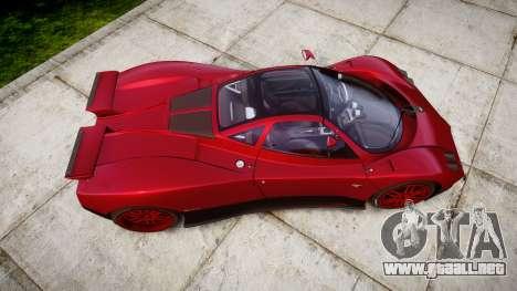 Pagani Zonda C12 S 7.3 2002 PJ2 para GTA 4 visión correcta
